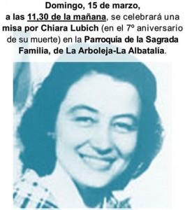 2015 03 15 Misa aniversario Chiara Lubich